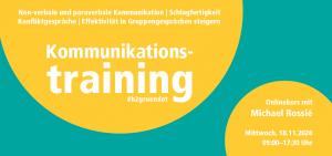 Onlinekurs: Mit Kommunikation zum Erfolg - Kommunikationstraining für Gründerinnen und Gründer @ digital via Zoom