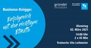 Online-Workshop: Business-Knigge - Erfolgreich mit der richtigen Etikette @ digital via Zoom